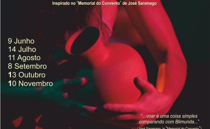 Imagem do cartaz do espetáculo Blimunda 2018