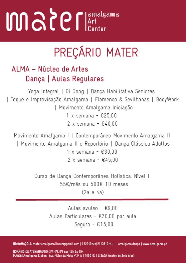 preçário Mater